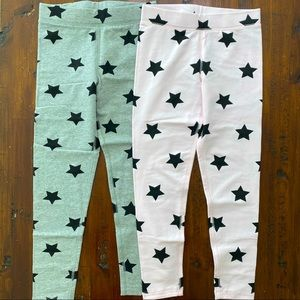 Primary Kids New Star Leggings Pink & Grey Size 7